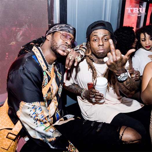Lil Wayne Joins 2 Chainz At Mr Jones Lounge In Miami