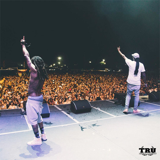 Lil Wayne & 2 Chainz Perform Duffle Bag Boy & Gotta Lotta At The Free Press Summer Festival In Houston