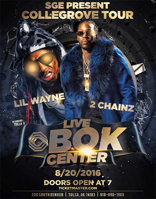 Lil Wayne & 2 Chainz To Perform Live At The BOK Center In Tulsa Oklahoma