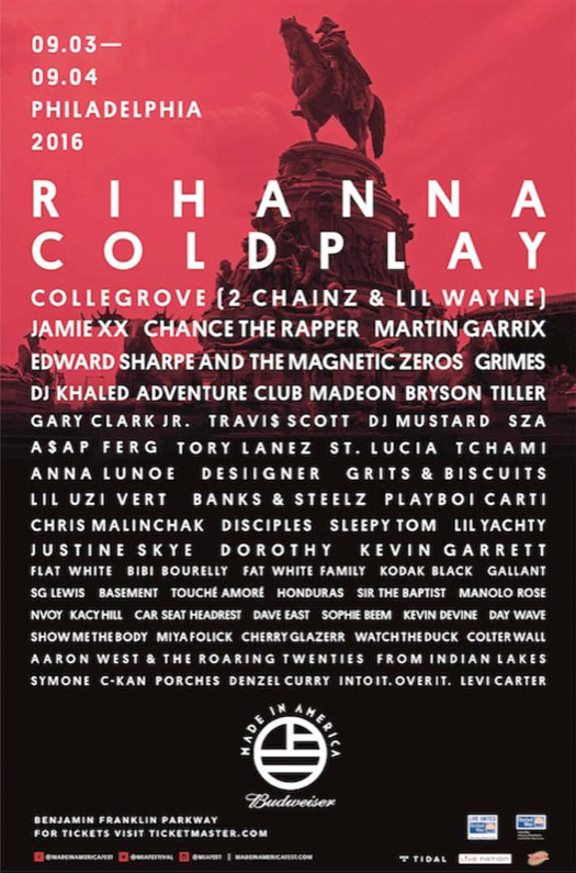 Lil Wayne & 2 Chainz To Perform Live At The 2016 Budweiser Made In America Festival In Philadelphia
