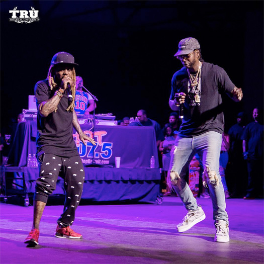 Lil Wayne & 2 Chainz Perform Live At Hot 107.5 Summer Jamz 19 Show In Detroit