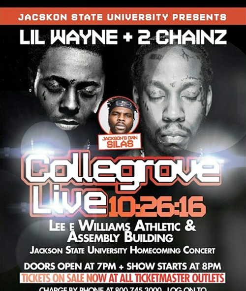 Lil Wayne & 2 Chainz To Perform Live At JSU 2016 Homecoming In Jackson, Mississippi