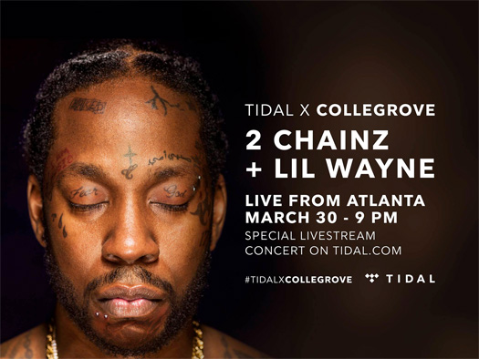 Lil Wayne & 2 Chainz To Perform Live At The Tabernacle In Atlanta For A TIDAL Event