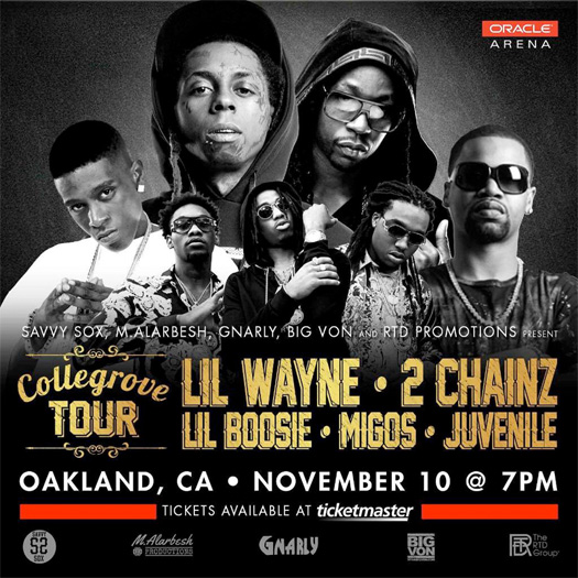 Lil Wayne & 2 Chainz Are Putting On A Show In Oakland With Boosie Badazz, Migos & Juvenile