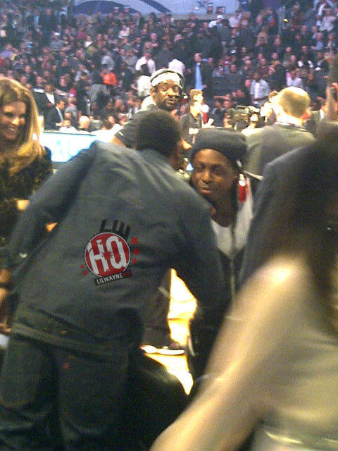 Pictures Of Lil Wayne Watching The 2011 NBA All-Star Game
