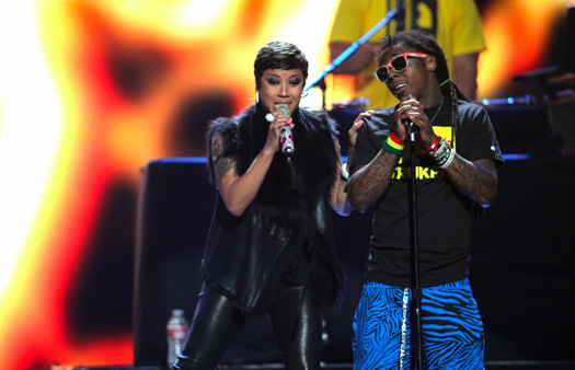 Lil Wayne Performing At The 2012 iHeartRadio Music Festival In Las Vegas
