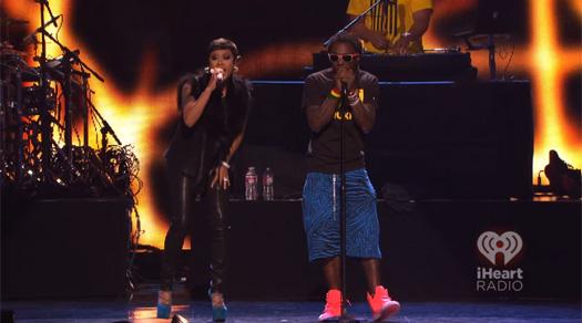 Lil Wayne Performing At The 2012 iHeartRadio Music Festival In Las Vegas