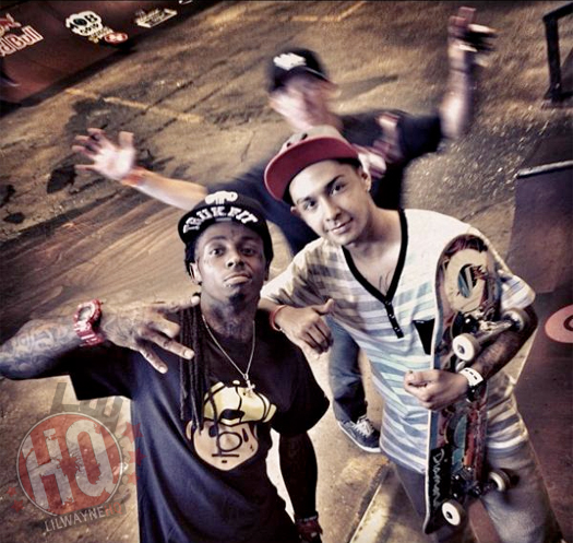 Lil Wayne Goes Skating At Tampa Pro In Florida