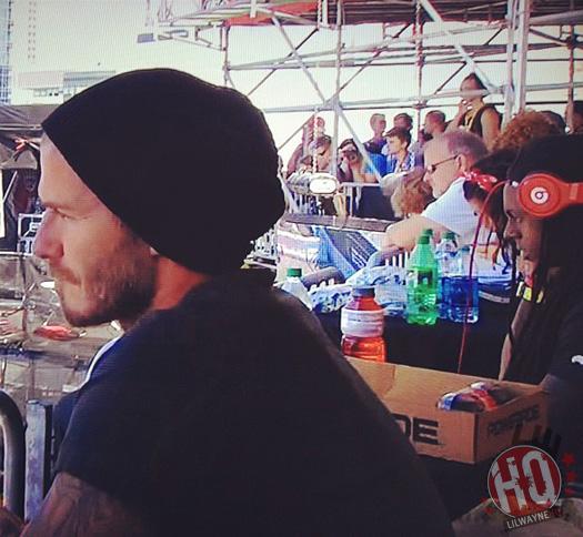 Lil Wayne Watches 2012 X Games With David Beckham & Tony Hawk