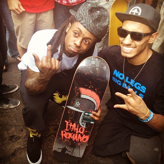 Lil Wayne Attends Final Day Of The 2014 Tampa Pro Skating Contest