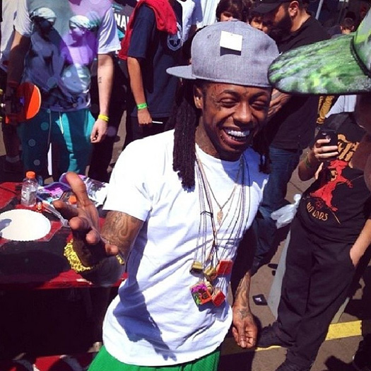 Lil Wayne Attends Day 3 Of The 2014 Tampa Pro Skating Contest