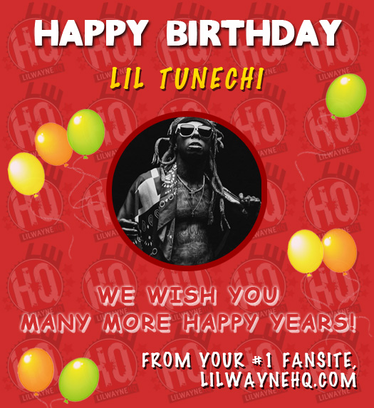 Happy 36th Birthday Lil Wayne