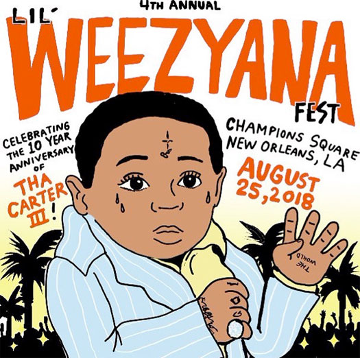 Watch Lil Wayne 4th Annual Lil Weezyana Fest Live