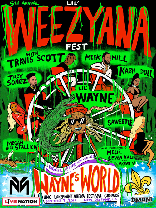Lil Wayne Announces 5th Annual Lil Weezyana Fest In New Orleans, Reveals Lineup