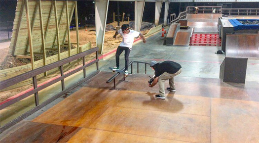 Lil Wayne Hits Up Action Park Grand Prairie Skatepark In Texas