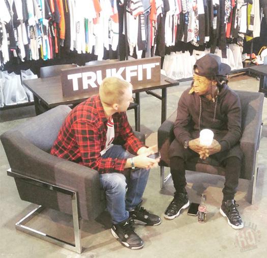 Lil Wayne Attends Agenda Trade Show In Miami To Promote TRUKFIT
