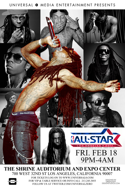 Lil Wayne NBA All Star Weekend Takeover 2011 Flyer