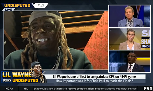 Lil Wayne Announces He Shot A New Music Video This Week During Undisputed Appearance