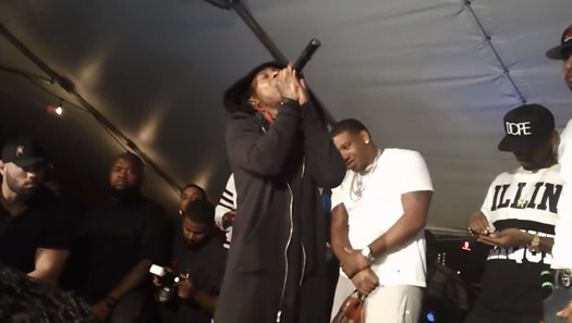 Recap Of Lil Wayne Appearance & Performance At Harrys Restaurant & Bar In St Louis
