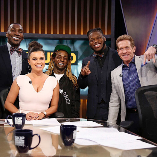 Lil Wayne Appears On Undisputed With His Client Malik Jefferson, Talks Fergie NBA All Star Game Performance, Young Money Sports & More