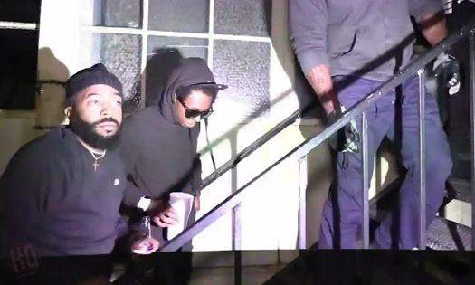 Lil Wayne Arriving & Leaving His Ace Of Diamonds LA Strip Club Party For Young Money HoodyBaby