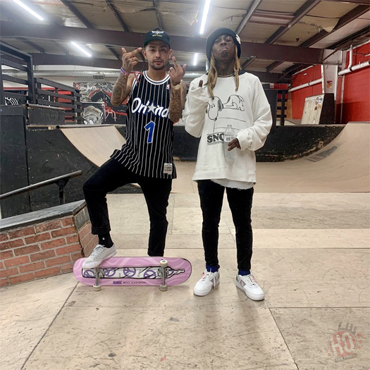 Lil Wayne Has A Skateboarding Session At Asylum Skatepark In Illinois