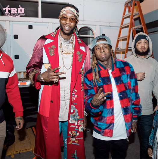 Lil Wayne Attends The 1st Annual NBA Awards Show In New York With His Son Cameron Carter