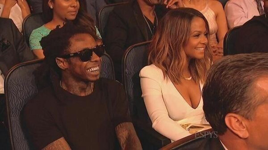 Lil Wayne Attends The 2014 ESPY Awards With Christina Milian To Watch Stuart Scott Receive The Jimmy V Award