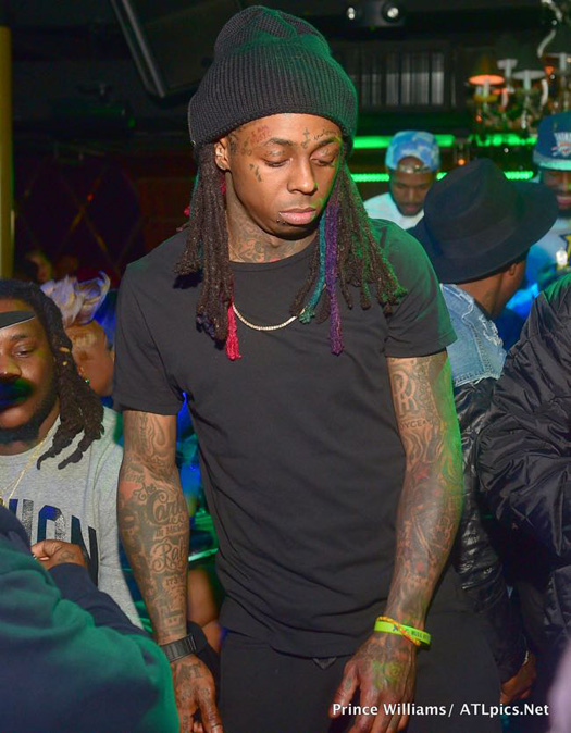 Lil Wayne Attends A 2015 CIAA Weekend Party At Label Nightclub With TI