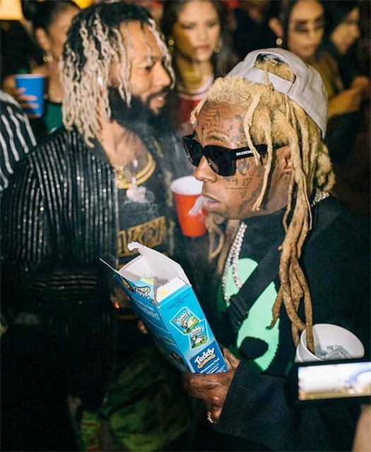 Lil Wayne Attends Diddy Son King Combs 23rd Birthday Party In Los Angeles
