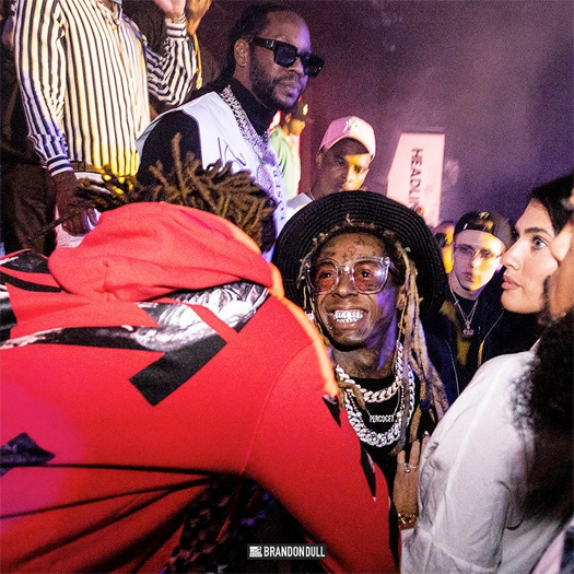 Lil Wayne Attended Diddy Super Bowl Party With LaTecia Thomas & 2 Chainz