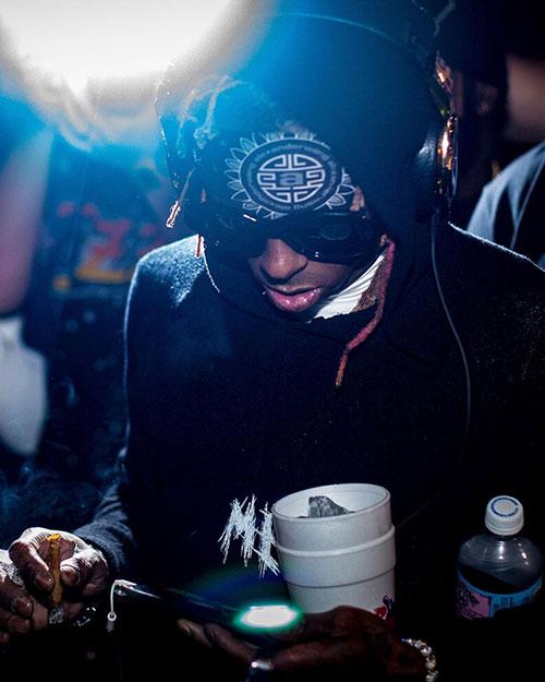 Lil Wayne Attends DJ Stevie J Birthday Bash At The Urban In Miami
