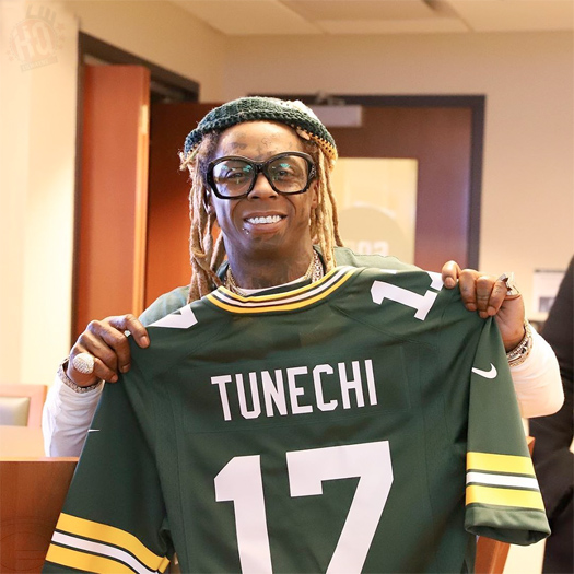 Lil Wayne Attends Lambeau Field To Watch Green Bay Packers vs Seattle Seahawks