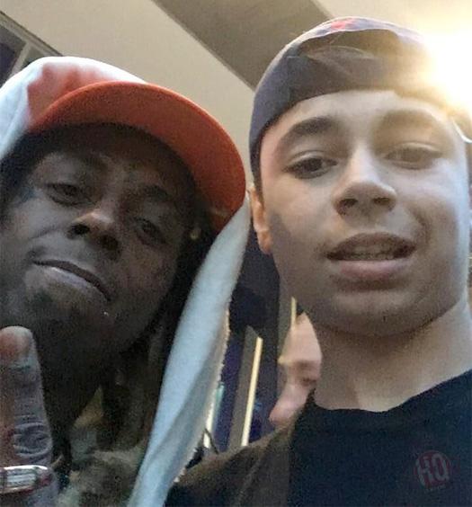 Lil Wayne Attends Miami Marlins vs Washington Nationals Baseball Game