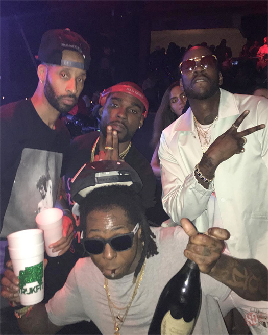 Lil Wayne Attends & Performs Live At STORY Nightclub In Miami With 2 Chainz