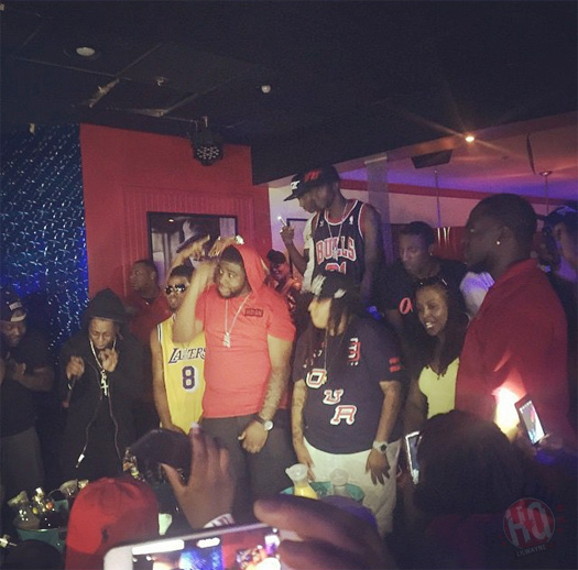 Lil Wayne Attends & Performs Live At Martinis Fine Food & Ultra Lounge In Alabama