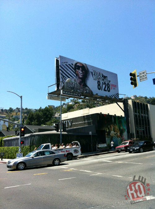 Lil Wayne On Billboard In Sunset Boulevard