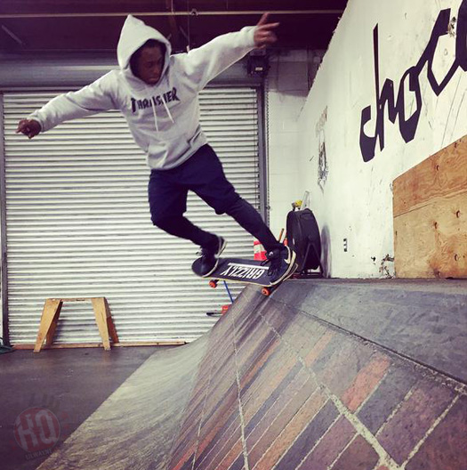 Lil Wayne Hits Up Brandon Biebel Private Indoor Skatepark In Los Angeles