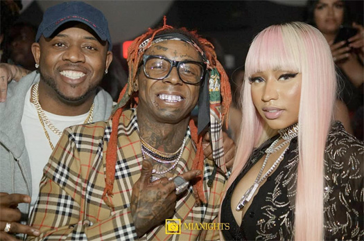 Lil Wayne Brings In 2019 With Nicki Minaj & 2 Chainz At LIV In Miami