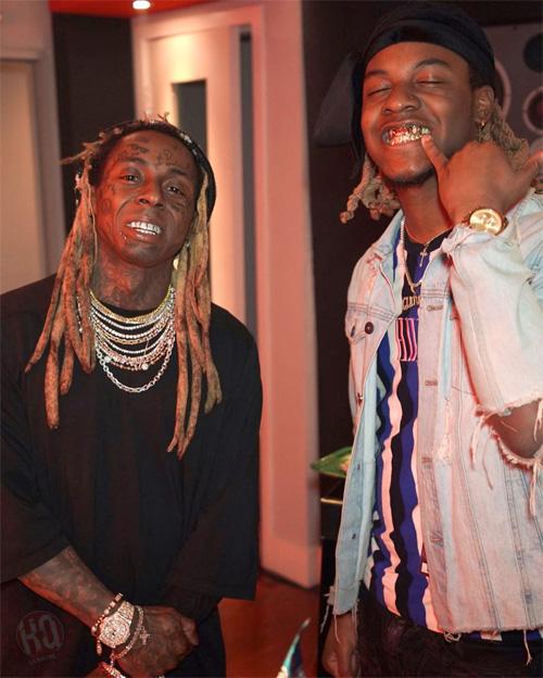 Lil Wayne Captured At His Private Studio In Miami