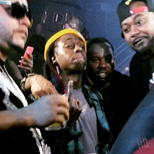 Lil Wayne Celebrates The Green Bay Packers Win At LIV