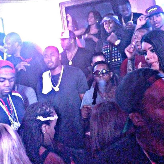 Lil Wayne Celebrates Mack Maine Birthday At Dream Nightclub, Raps Along To Drake Back To Back Diss Song