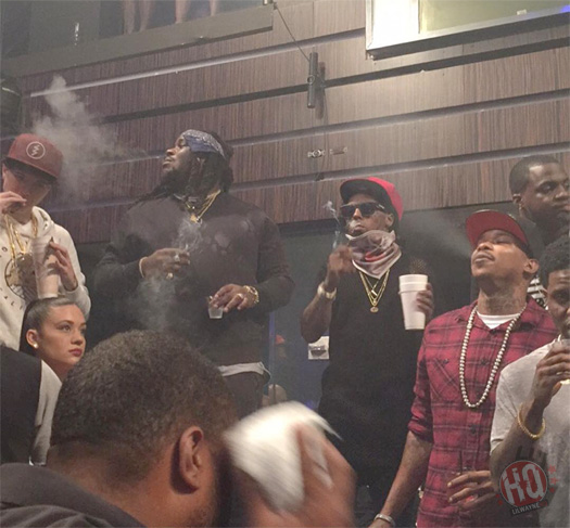 Lil Wayne Helps Celebrate Rick Ross Black Market Album Release At LIV With DJ Khaled & Adrien Broner