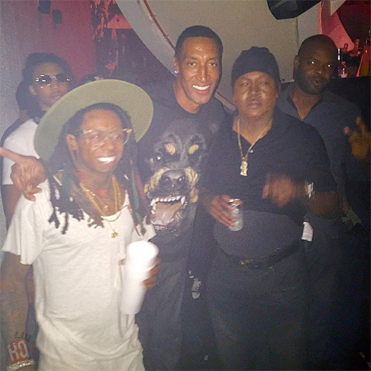 Lil Wayne Celebrates His 33rd Birthday At LIV Nightclub In Miami With Trick Daddy & Scottie Pippen
