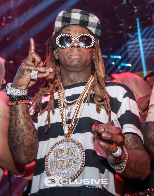 Lil Wayne Celebrates His 35th Birthday Early At LIV Nightclub In Miami With Trippie Redd & Young Money Artists