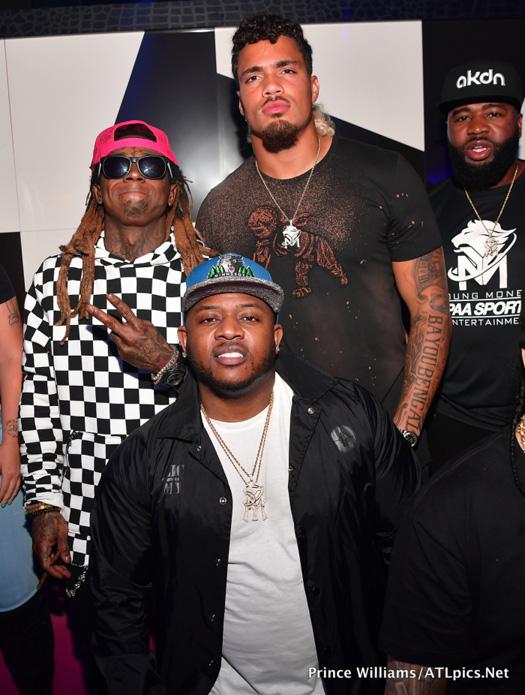Lil Wayne Celebrates Duke Riley Signing To The Atlanta Falcons At Gold Room Nightclub