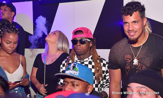 Lil Wayne Celebrates Duke Riley Signing To The Atlanta Falcons At Gold Room Nightclub