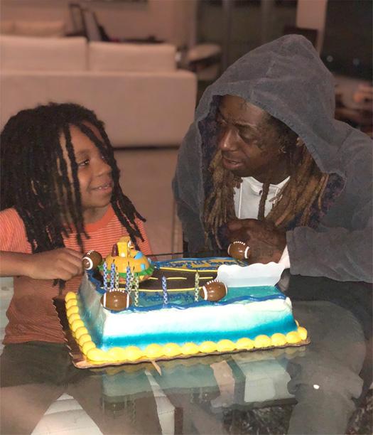 Lil Wayne Celebrates Hid Kids Reginae & Neal Carter's ...