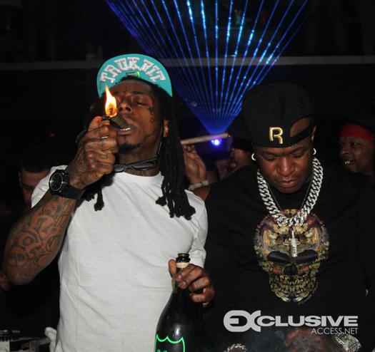 Lil Wayne Celebrates New Year's With Birdman At CAMEO In Miami