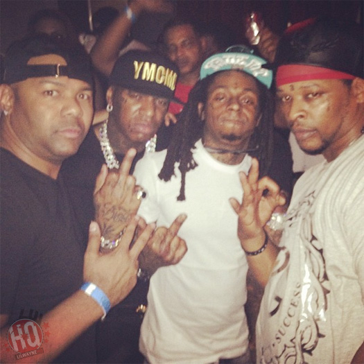 Lil Wayne Celebrates New Year's With Birdman At CAMEO In Miami
